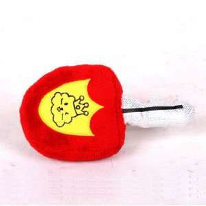 Happy Puppy Plush Dog Toy   Car Key Toy   Color Red Pet