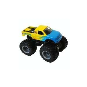 124 2010 Hot Wheels Monster Jam Shattered Yellow Blue
