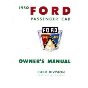 1950 FORD PASSENGER CAR Owners Manual User Guide