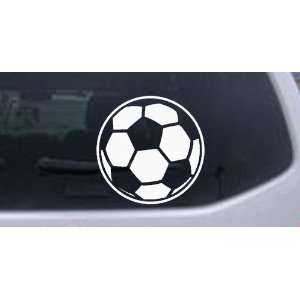 Soccer Ball Sports Car Window Wall Laptop Decal Sticker    White 10in