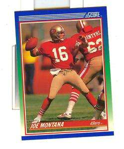 1990 SCORE JOE MONTANA #1 * San Francisco 49ers