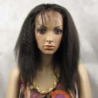 Full Lace Wig Front Lace Wig Real Human Hair 10 KINKY