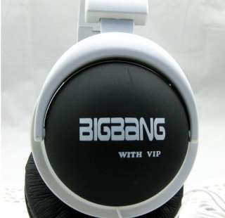 POP 2012 NEW BIGBANG big bang with VIP KPOP BLACK EARPHONES HEADPHONES