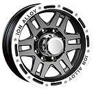 16x8 ION Alloy 133 Black Wheel/Rim(s) 5x135 5 135 16 8