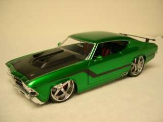 Jada Toys Diecast 1969 Chevy Chevelle SS Green 118 Loose Nice