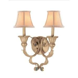 Crystorama Handpainted Wrought Iron Wall Sconce