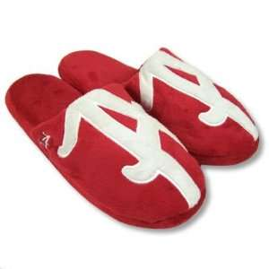 ALABAMA CRIMSON TIDE OFFICIAL LOGO PLUSH SLIPPERS SZ L