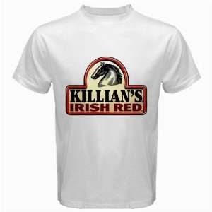 Killians Irish Red Beer Logo New White T Shirt Size  3XL