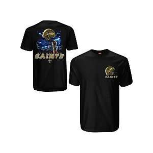 Liquid Blue New Orleans Saints Sky Helmet T Shirt Extra