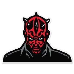 Darth Maul Star Wars car bumper vinyl sticker decal 4 x 4