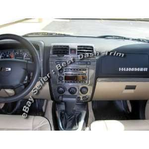 HUMMER H3 REAL Carbon Fiber Dash Trim Kit