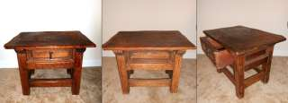 RARE ANTIQUE ORIGINAL ARTS AND CRAFTS OAK SQUARE SIDE TABLE