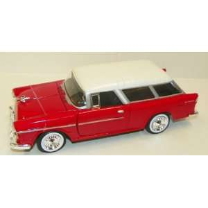 1955 Chevy Bel Air Nomad in Color Red with White Top Toys & Games