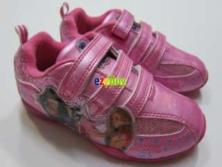 Hannah Montana Girls Pink Light Up Runner Shoes Size 6