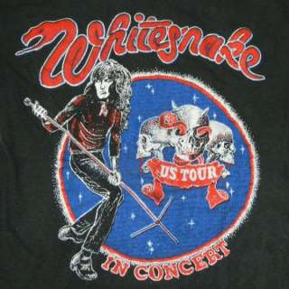 VTG WHITESNAKE 70s TOUR T SHIRT CONCERT led zeppelin