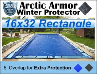 16x32 In Ground Winter Pool Cover by Arctic Armor 8YR