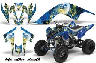 AMR RACING GRAPHIC ATV WRAP OFF ROAD DECAL KIT YAMAHA RAPTOR 700 IRON
