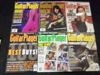 GUITAR PLAYER MAGAZINE LOT OF 9 ISSUES   MUSIC MAGAZINES   L287