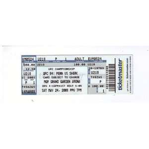 UFC 84 ULTIMATE FIGHTING CHAMPIONSHIPS TICKET, 5/24/08 MGM