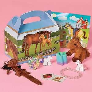 Mare & Foal Filled Treat Boxes   Party Favor & Goody Bags
