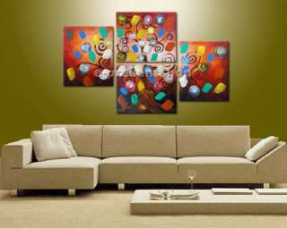 Art Deco Handmade modern Abstract Huge Oil Painting On Canvas bn307 ny