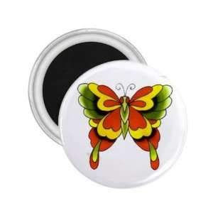 Tattoo Butterfly Black Art Fridge Souvenir Magnet 2.25