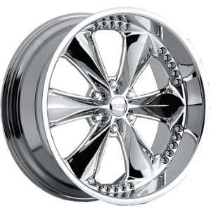 Foose Nitrous 6 22x9.5 Chrome Wheel / Rim 6x5.5 with a 35mm Offset and