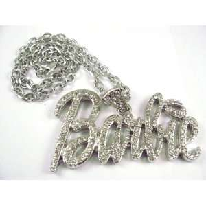 NEW NICKI MINAJ BARBIE Pendant w/ 20 Chain Silver LG