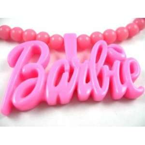 NEW NICKI MINAJ BARBIE Pink Pendant w/ 18 Ball Chain