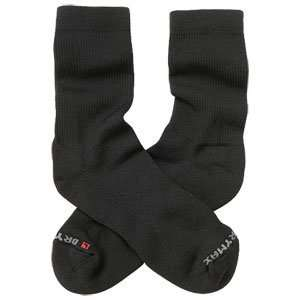 Drymax Mens Crew Golf Socks Black Large