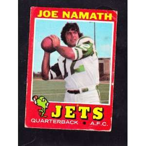 Joe Namath Football Trading Card New York Jets & Joe Guarantees Win