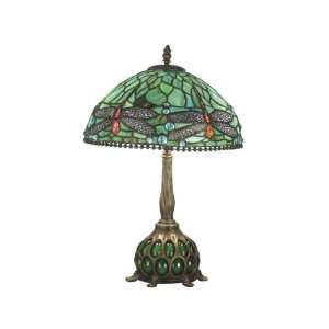 Dale Tiffany TT60919 Dragonfly Table Lamp, Antique Bronze