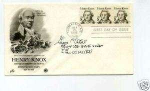 General George Axtell WWII War Ace Signed Autograph FDC