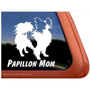 Papillon Mom Vinyl Window Dog Decal Sticker Automotive
