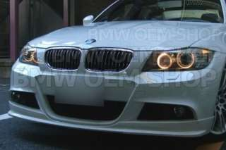 PAINTED BMW E90 3D STYLE ADD ON FRONT LIP SPOILER 05 08