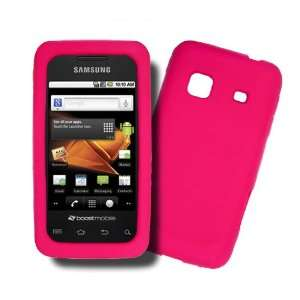 Samsung Galaxy Prevail M820 HOT PINK Silicone Case, Rubber