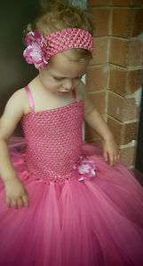 NEW Handmade Beautiful Baby Girl Flower Tutu Dress 1 3 years, double