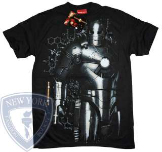 IRON MAN 2 TONY STARK MARVEL COMICS T SHIRT TOP M