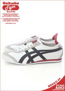 New Asics Onitsuka Tiger Mexico 66 White / Iron Shoes #T14