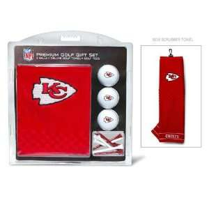 Kansas City Chiefs NFL Embroidered Towel/3 Ball/12 Tee Set