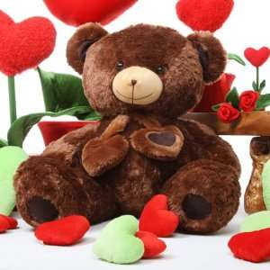 Lucky Hugs 36 Big Chestnut Brown Cuddly Love Teddy Bear
