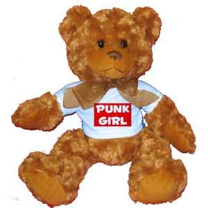 PUNK GIRL Plush Teddy Bear with BLUE T Shirt Toys & Games