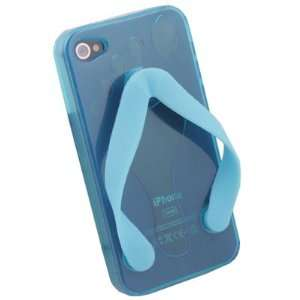 Cute Shoe Design Blue Color TPU Case For iPhone 4G Cell