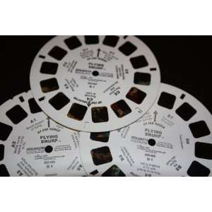 Three View Master Reels Flying Smurf A, B, and C