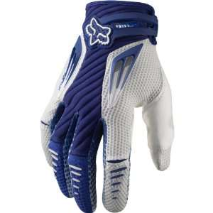 Off Road/Dirt Bike Motorcycle Gloves   Blue/White / Large Automotive