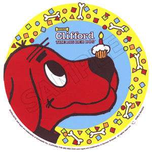 Clifford the Big Red Dog Edible Cake Topper Image