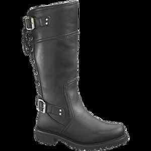 Womens Harley Davidson Black Leather Motorcycle Riding Boot Alexa