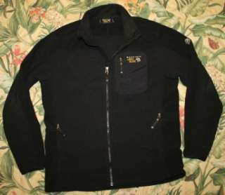 Mens Black MOUNTAIN HARDWEAR Octans Fleece Jacket Large L