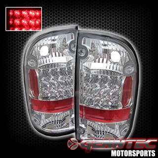95 00 TOYOTA TACOMA LED TAIL LIGHTS CHROME HOUSING 96 97 98 99