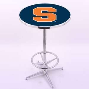 Holland Bar Stool Co. Syracuse University Chrome Pub Table